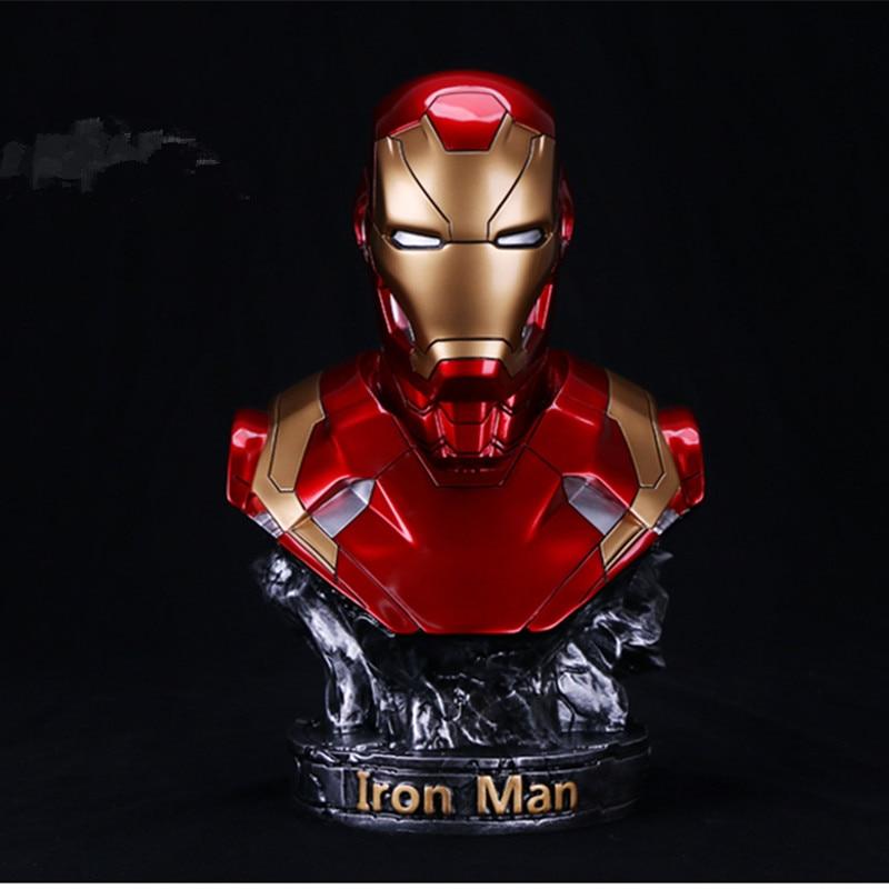 Anime Superhero New Avengers: Endgame 1/2 Scale Paint Iron Man MK46 Bust Resin Statue 35cm HAnime Superhero New Avengers: Endgame 1/2 Scale Paint Iron Man MK46 Bust Resin Statue 35cm H