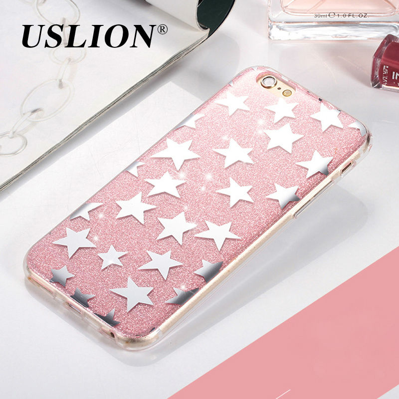 Luxury Bling Glitter Star Case For iPhone 7 Flashing Powder Hard PC Phone Cases Back Cover Capa Coque For iPhone7 6 6s 5 5s SE