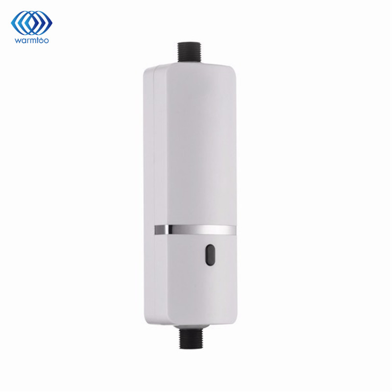 3000W Kitchen Instant Tankless Electric Water Heater Household Electrical Hot Water Faucet White Wash The Dishes AC 220V
