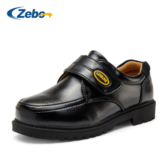 2016 Spring autumn new children's shoes for boys black genuine leather cow shoes student school Korean show performance shoes