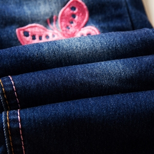 Image 5 - Moda kot kızlar için sonbahar çocuk kış tayt kot bebek pantolon artı kadife Denim pantolon elastik kızlar kot kostüm
