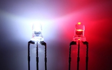 Через отверстие прозрачный биколор biocolor 3 мм красный/белый светодиод Диэлектрические шайбы rohs общий анод/катод