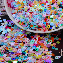 4000pcs/lot (30g) mixed  AB color 4mm Flat round loose sequins Paillettes sewing Wedding craft Good quality Free Shipping