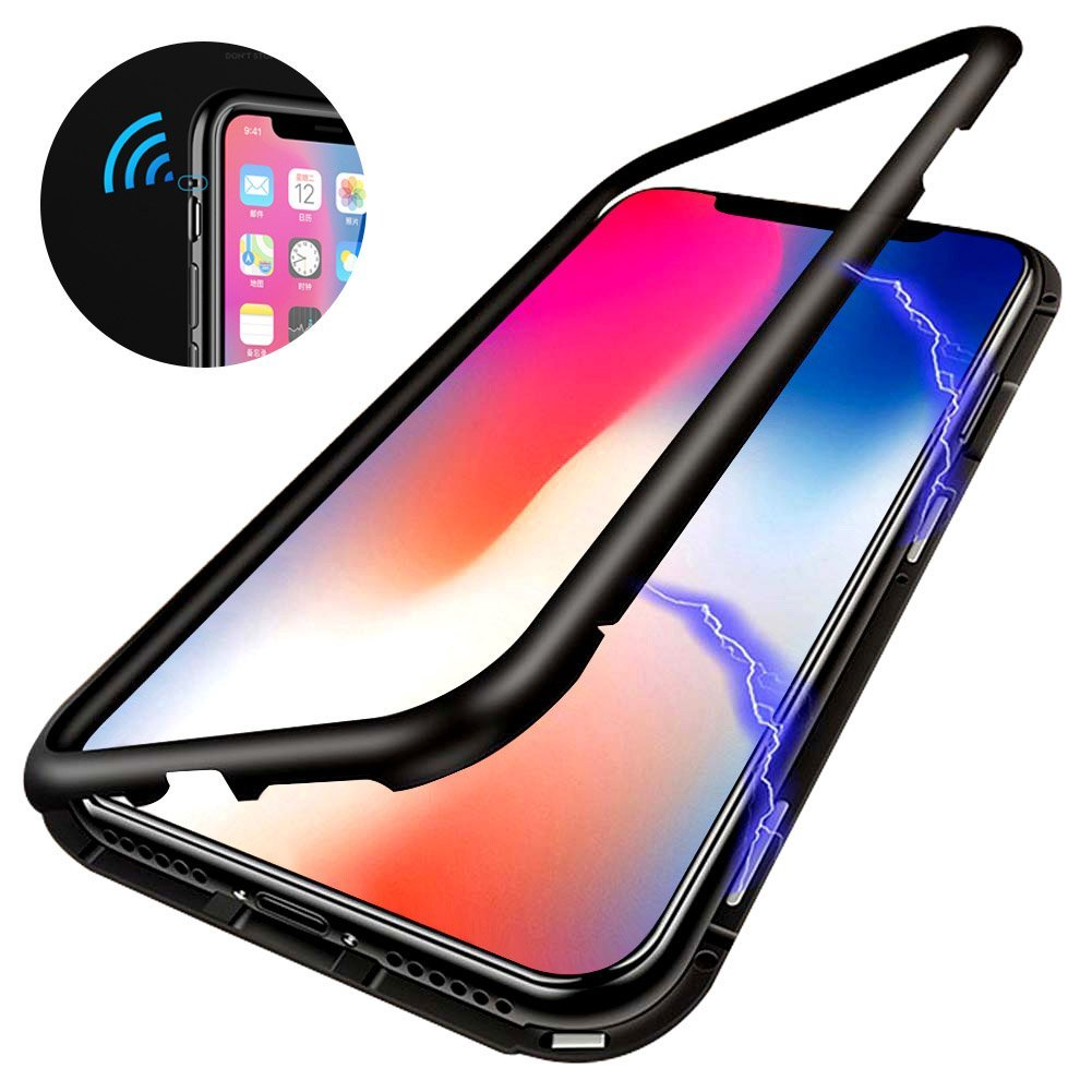 Magnetic Adsorption Tempered Glass For iPhone XR XS MAX X