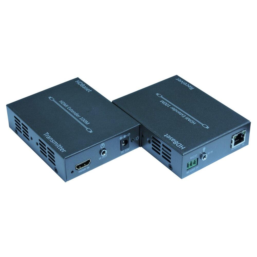 HDBaseT HDMI 100 метра удлинитель с ИК HDMI RS-232, 1080 P до 70 м, 3D 4 К x 2 К до 70 метров, poc одна Сторона питания