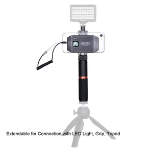 Image 5 - COMICA CVM WS50(A) UHF 6 Channel Lavalier Wireless Smartphone Microphone System with Bluetooth Remote Grip for iPhone Samsung