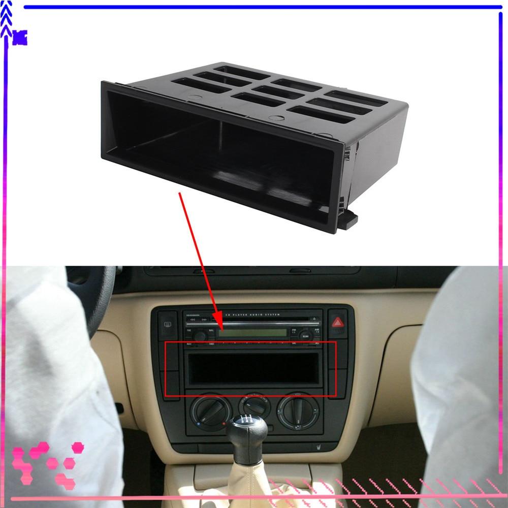 Black Dashboard Center Storage Tray Cubby Box For VW Jetta Golf MK4 Bora Passat B5 Sharan Transporter Lupo 3B0857058 1J0857058A