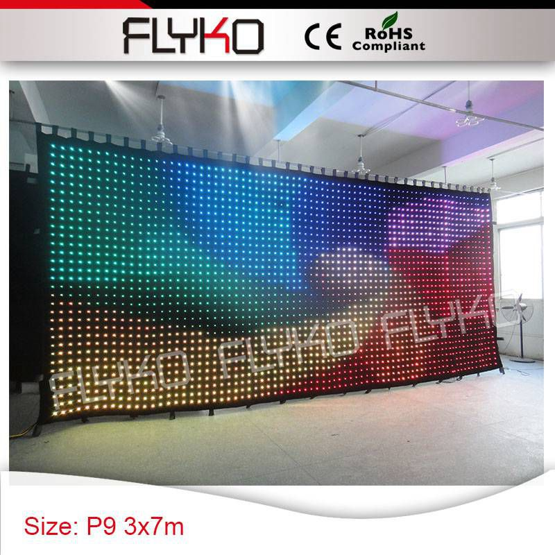 US $2900 0 |Wedding special events supplies 3x7m p9 free shipping rainbow  color changing led video wall-in Stage Lighting Effect from Lights &