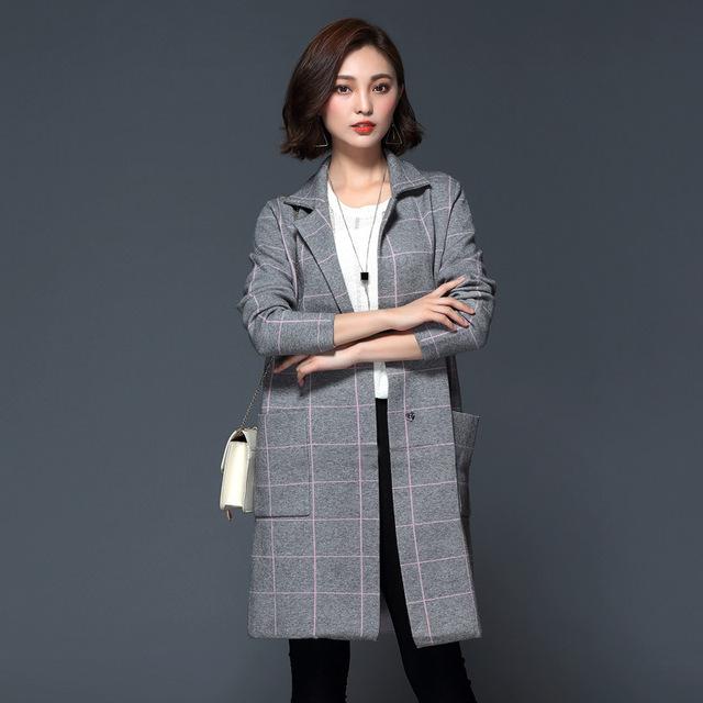 El nuevo de alta costura otoño 2016 yardas grandes flojas largas de las mujeres abrigo corto abrigo