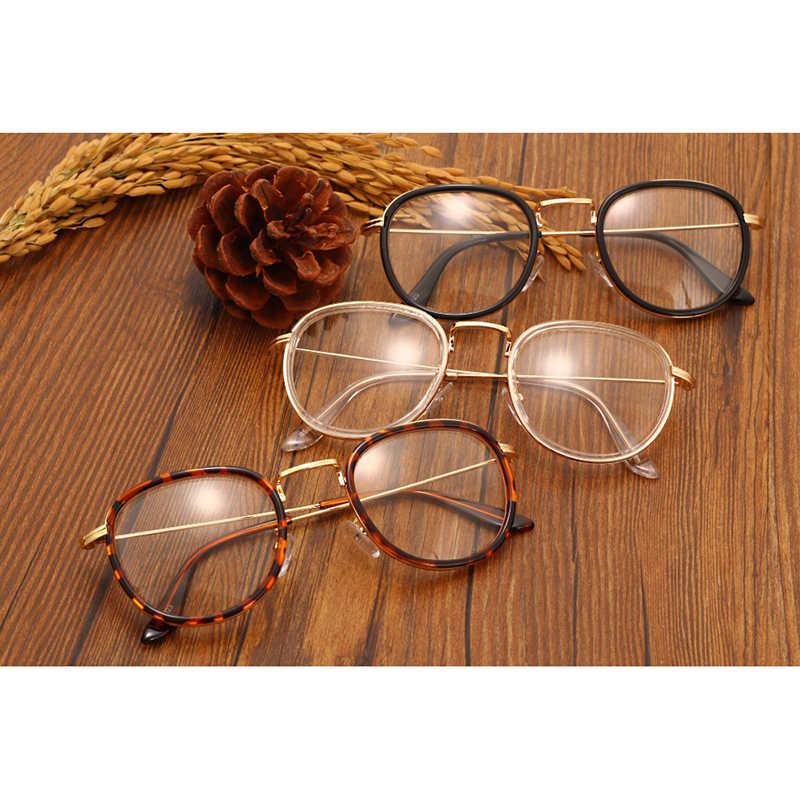9e824504455 ... Vintage Clear Lens Eyeglasses Frame Retro Round Men Women Eyewear Nerd Glasses  Spectacles Black Leopard