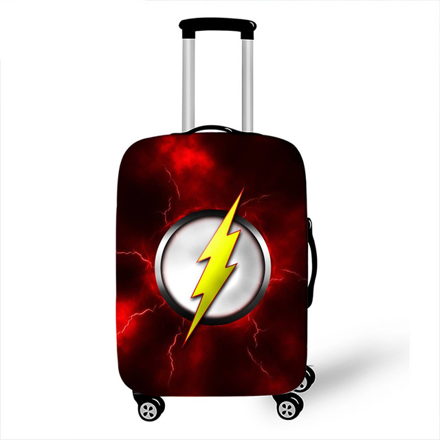 The Iron Man Hulk Suitcase Trolley Case Protective Cover S/M/L/XL 4 Size For 18-32 Inch Travel Cases Anime Suitcase Covers