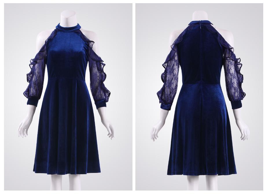 Seal холтер Коктейльные платья для вечеринок тех довольно as05896 Elegant бат зануда кружево рукава платья для женщин 2017 классический платье коктейль