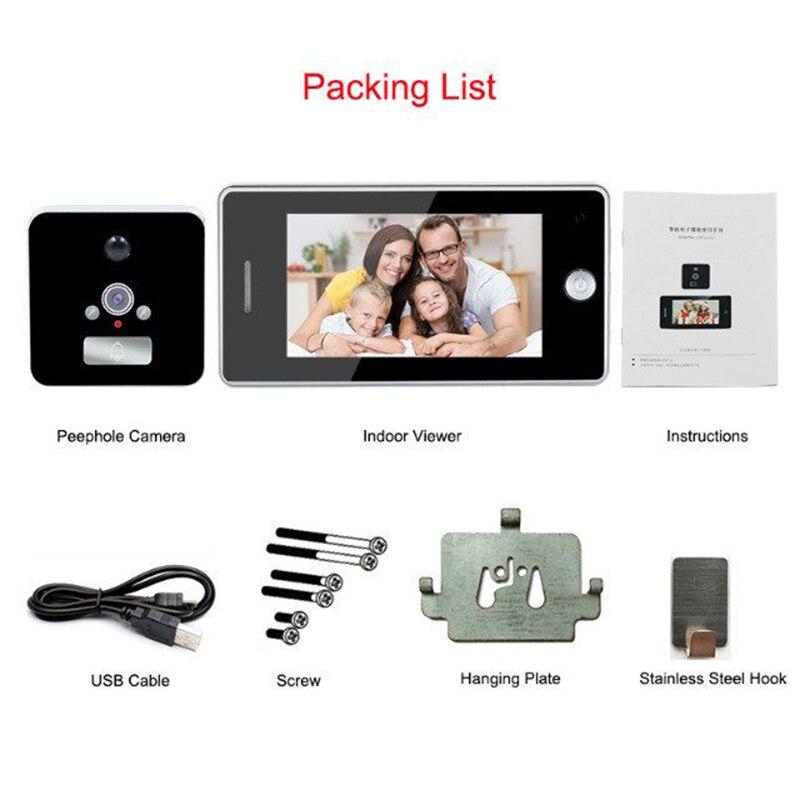 Купить с кэшбэком Saful 3000mAh Door Camera LCD Color Screen Door Peephole Viewer Video Recording Motion Detect Doorbell Camera Video-eye