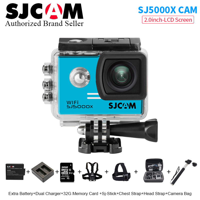 SJCAM SJ5000X Elite Action Camera 24fps 2.0 LCD WiFi mini Sports DV Diving 30M Waterproof 1080P Full HD NTK96660 Original SJ CAM original sjcam wifi version sj4000 wifi 1080p full hd gopro camera style extreme sport dv action camera diving 30m waterproof