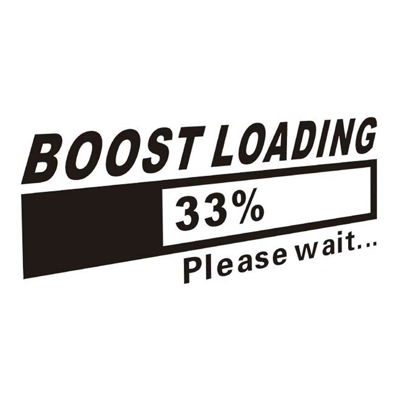19 7cm Boost Loading Car Sticker Decal Golf 7 Golf 4