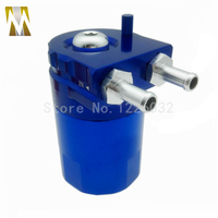 Blue Black Red Silver Polish CAR Billet Aluminum Baffled Oil Catch Tank Can Reservoir Tank