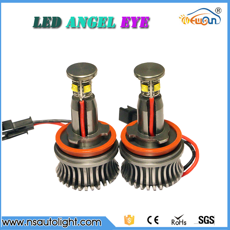 ФОТО Newsun high power h8 led angel eyes, led marker for bmw1/3/5/7/X/Z series, Cree chips 20w with color white led lighting