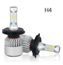 1 Set H4 HB2 9003 S2 LED Headlight Super Slim Conversion Kit 72W 8000LM CSP Y19 LED Chips All-in-one Built-in Fan H/L Lamp Bulbs