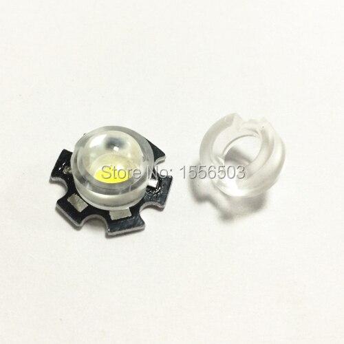 100 pcs Plastic PMMA 15 30 45 60 90 100 Degree LED 13mm Mini Clip LED Lens for IR CCTV LED PCB 1W 3W 5W High Power Convex Lens