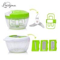 LMETJMA Manual Vegetable Chopper Powerful Easy Pull Hand Food Slicer Salad Slicer Vegetable Cutter Dicer Potato
