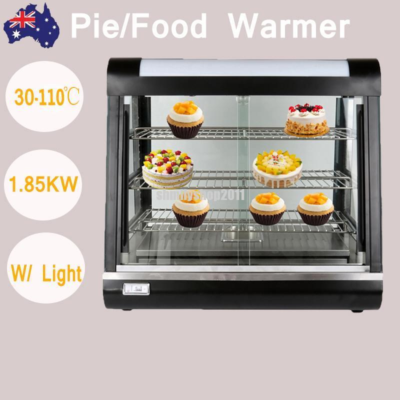 (ship from AU) 1.85KW 3 Layer Hot Food Pie Warmer Display Cabinet Showcase Temperature 30C-110C(ship from AU) 1.85KW 3 Layer Hot Food Pie Warmer Display Cabinet Showcase Temperature 30C-110C