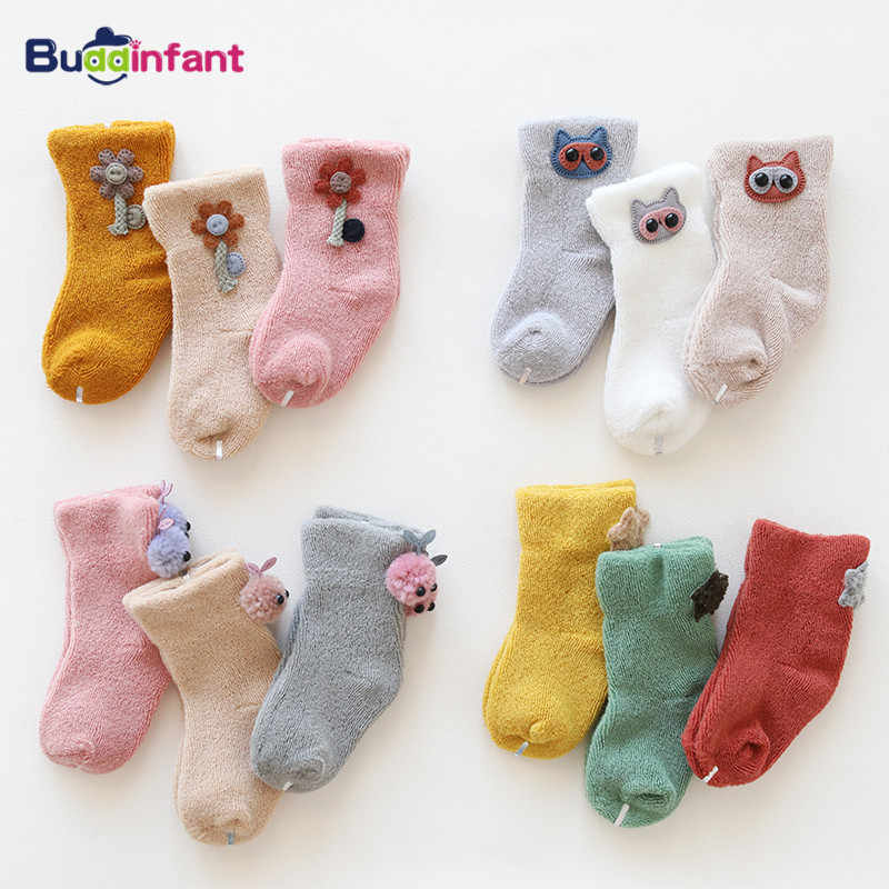 Kids Winter Warm Terry 5 Pairs Cotton Baby Socks Children/'s Socks NewBorn