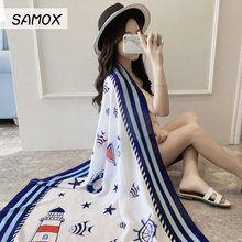 Ladies Chiffon Shawl Scarves Bali Yarn Scarf Ethnic Style Print Seaside Tourism Holiday Sunscreen