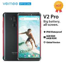 "Vernee V2 Pro IP68 Waterproof Smartphone 5.99"" FHD Face ID Global Network 6GB 64GB Four Cam NFC 6200mAh Android 8.1 Mobile Phone(China)"