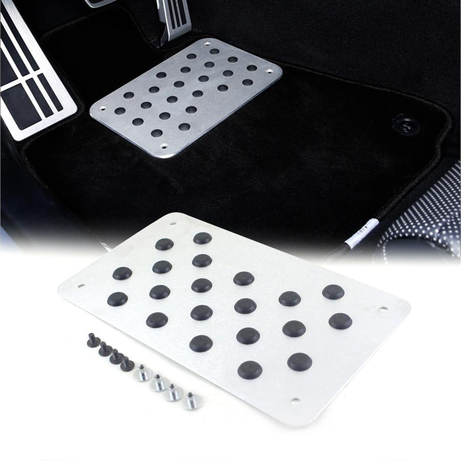 Car Non-slip Plate Carpet pedal Floor Mat Aluminum alloy Environmental Rubber Car Accessories Styling