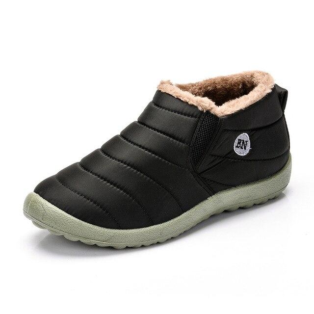 2018 Thời Trang Mới Mùa Đông Rắn Giày Tuyết Người Đàn Ông Phụ Nữ Giày Chống Trượt Phía Dưới Giữ Cho Ấm Sang Trọng Bên Trong Trượt Tuyết Không Thấm Nước Khởi Động Kích Thước 35-49