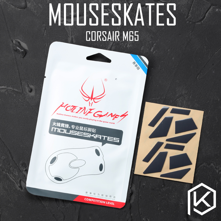 Computer Peripherals Hotline Games 2 Sets/pack Original Competition Level Mouse Feet Skates Gildes For Corsair M65 0.6mm Thickness Teflon