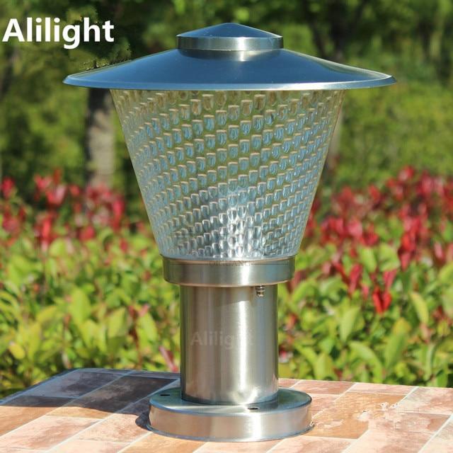 Exceptional Stainless Steel LED Garden Column Lights Outdoor Waterproof Garden Goalpost  Lamps Pillar Lamp Post E27 LED