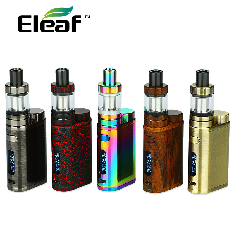Original 75W Eleaf iStick Pico TC Vape Kit with 2ml MELO 3 Mini Tank & 0.3ohm 0.5ohm EC Coil iStick Pico Box Mod NO Battery original 75w eleaf istick pico tc box mod vape vaporizer temp control mod e cig no 18650 battery fit melo 3 melo 3 mini atomizer