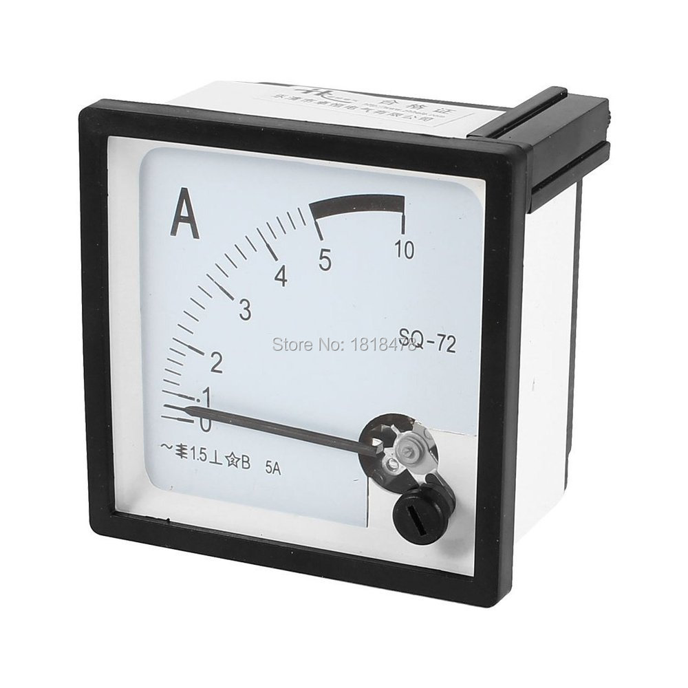 Square Panel Mounting Moving VaneSQ72  0-5A AC Analog Ammeter 72mm x 72mm