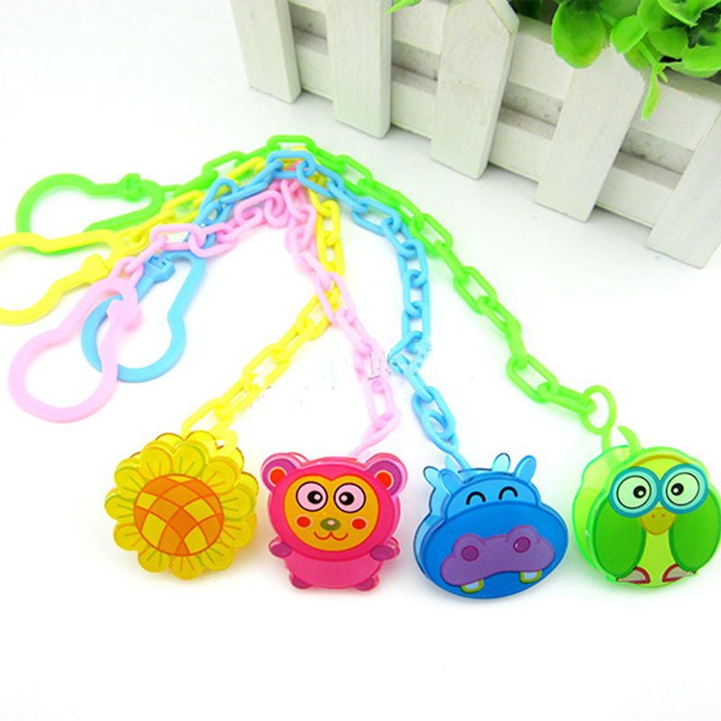 Toys Montessori Molars Baby 0-12-Months For Chain Pacifier-Clip Animal Colourful Hand-Made