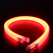 2pcs 60cm Red LED DRL Strip Car Day Light Flexible Daytime Running Turn Signal Lamp Angel Eye Headlight