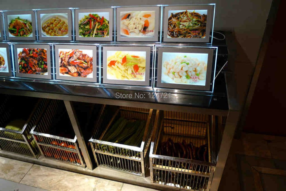 a4 LED Lightbox Sign ,Acrylic Menu Display Board,LED Advertising a4 size Photo Frames