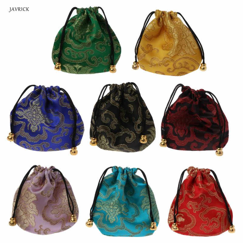 1pc High Quality Traditional Silk Travel Pouch Classic Chinese Embroidery Jewelry Packaging Bag Organizer Handbags Jewelry Tips