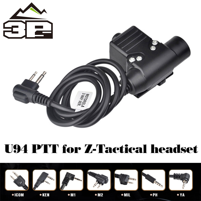 Airsoft U94 PTT Equipment Headset For KENWOOD/Midland Walkie-Talkie BaoFeng UV-82 Radio  Airsoft Headphone WZ113