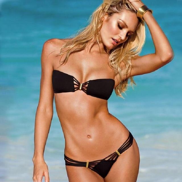 90a08683ed US $8.59 14% OFF|LEMOCHIC retro girls two pieces swimwears push up summer  cheap tankini mujer women swimsuits beach bathing suits free shipping -in  ...