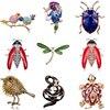 동물 조류 곤충 거북이 잠자리 뱀 브로치 드레스 칼라 정장 비틀 연회 장식 브로치 핀 웨딩 쥬얼리