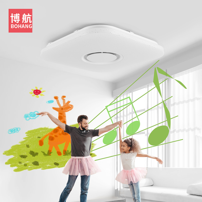 Image 4 - Modern intelligent LED ceiling lamp RGB dimmable APP remote control Bluetooth speaker living room bedroom 90 260v ceiling light-in Ceiling Lights from Lights & Lighting