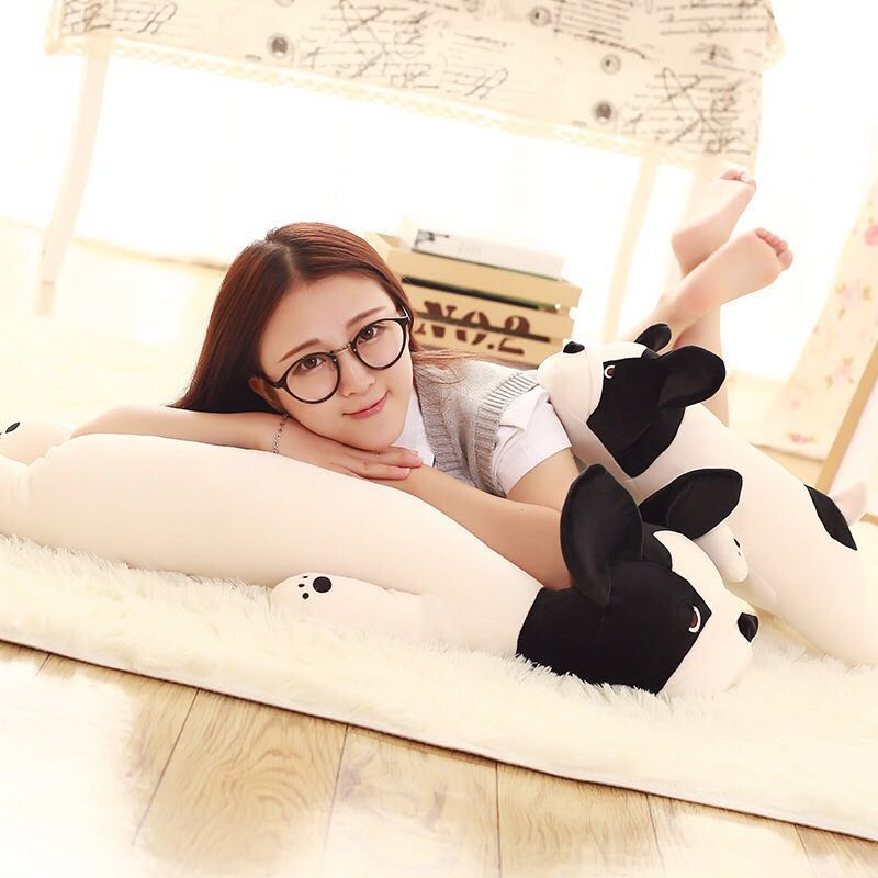large 65cm cartoon bulldog plush toy prone dog soft doll throw pillow christmas gift s2235 free shipping about 60cm cartoon totoro plush toy dark grey totoro doll throw pillow christmas gift w4704