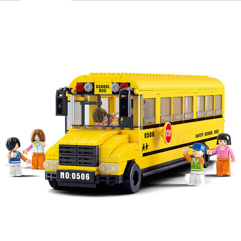 392pcs City Friends Public Transport School Bus Driver Child Figure Model Legoings Building Blocks Kit Toys Christmas gift предупреждающий знак public transport facilities 60cm