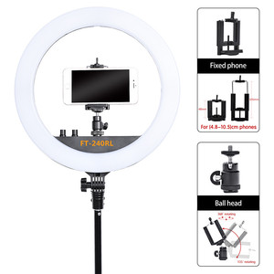 Image 3 - fosoto FT 240RL 14 inch Photographic Light 240 leds Ring Light 48W Ring Lamp With Remote For Camera Phone Video Photo studio