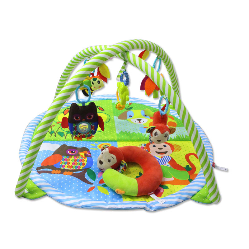 Couverture bébé nouveau tapis rampant bébé 0-2 ans multi-fonctionnel fitness jeu couverture animal en peluche hochet bébé jouets en peluche