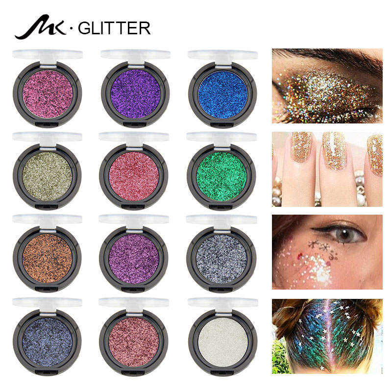 12 Color Glitter Diamond Lips Shimmer - Body Glitter Tattoo