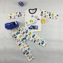 Гарсон pijamas домашняя ночное т детский малышей наборы мальчиков костюмы пижамы