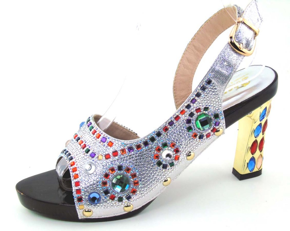 ФОТО Whoesale Elegant Women's Shoes Nice Looking African Sandals Shoes Free Shipping  HOH1-46