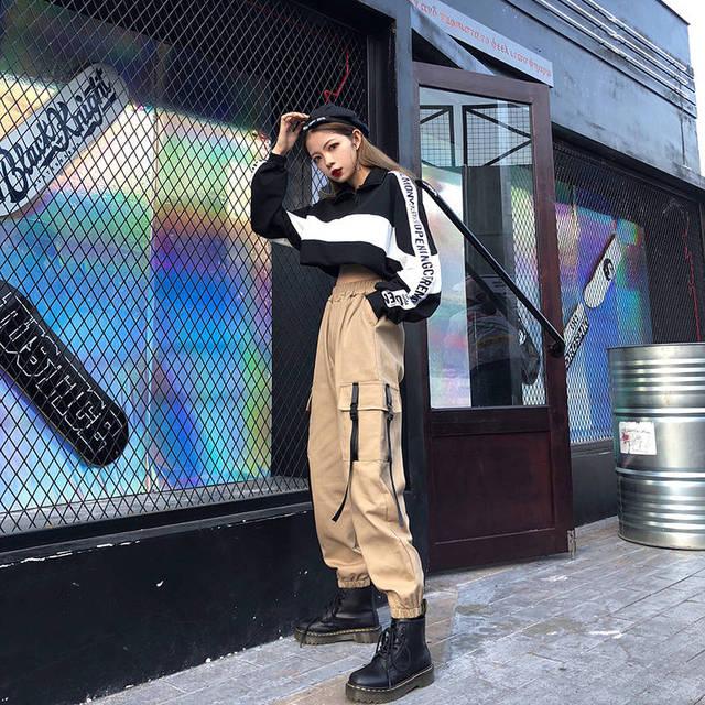 Pants Casual Joggers Baggy Tactical Trousers Harajuku Pants Streetwear Hip Hop Mens Pants With Side Pockets